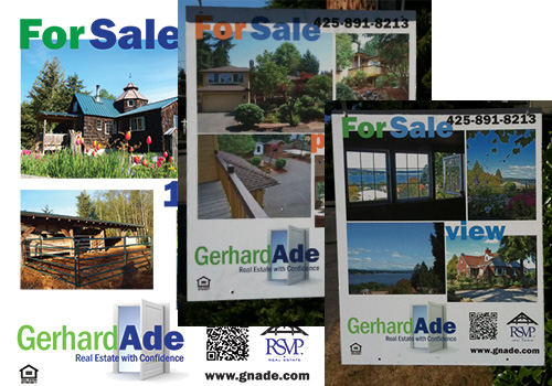 Seattle Area Real Estate For Sale Signs