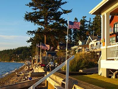 Camano Island beach homes