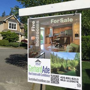 Redmond Ridge Home Sale Sign