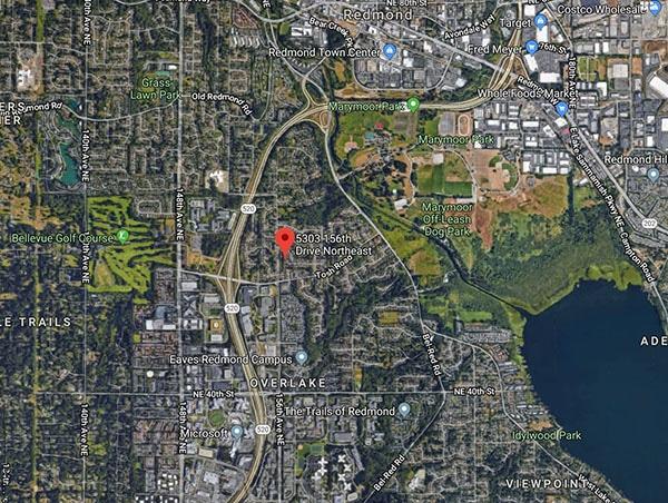 Redmond home near Microsoft | Aerial view