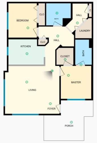 Downtown Redmond Condo | Floor Plan